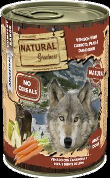 Imagem de NATURAL GREATNESS | Venison with Carrot, Pear & Dandelion 400 g