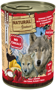 Imagem de NATURAL GREATNESS | Reinder & Herring with Yogurt, Banana & Strawberry 400g