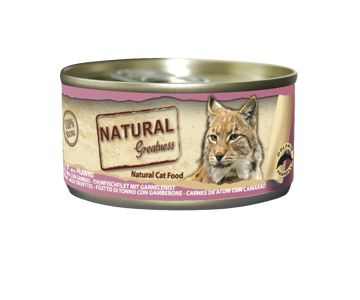 Imagem de NATURAL GREATNESS | Wetfood Cat Tuna Filet & Prawns 70 g