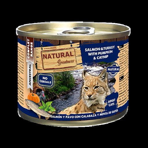 Imagem de NATURAL GREATNESS | Wetfood Cat - Salmon, Turkey, Pumpkin & Mint 200 g