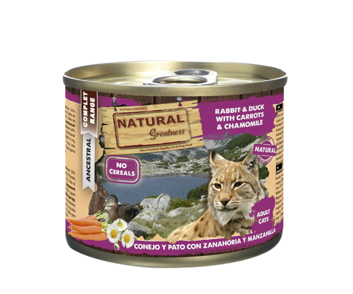 Imagem de NATURAL GREATNESS | Wetfood Cat - Rabbit, Duck, Carrot &  Peach 200 g