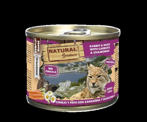 Imagem de NATURAL GREATNESS | Wetfood Cat - Rabbit, Duck, Carrot &  Peach 200 g