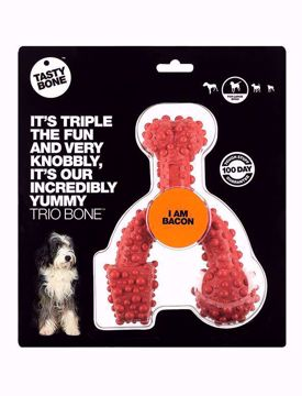 TASTYBONE Trio Bone Toy Bacon