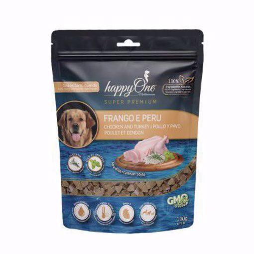 happyOne Mediterraneum Snack Semi-húmido Frango e Perú 190 g