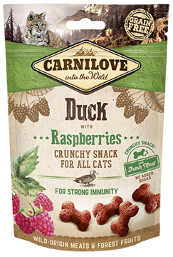 Imagem de CARNILOVE Cat | Crunchy Snack Duck & Raspberries 50 g