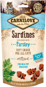 Imagem de CARNILOVE Cat | Soft Snack Sardines & Parsley 50 g