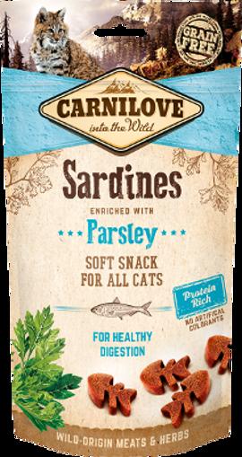 Imagem de CARNILOVE Cat | Soft Snack Sardines & Parsley 50 g