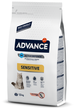Imagem de ADVANCE Cat | Adult Sensitive Salmon & Rice
