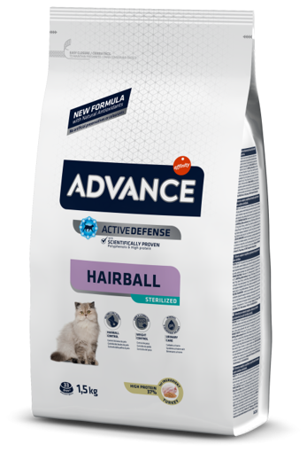 Imagem de ADVANCE Cat | Hairball Sterilised Turkey & Barley