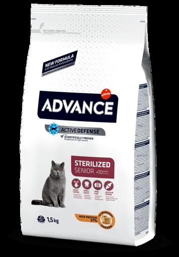 Imagem de ADVANCE Cat | Senior Sterilised Chicken & Barley 1,5 kg