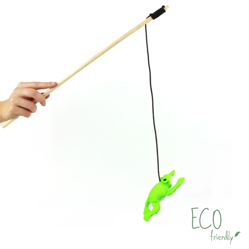 Imagem de BECO PETS | Catnip Wand Frog Toy