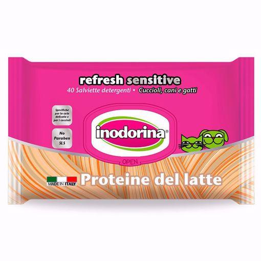 Imagem de INODORINA | Toalhetes Refresh Sensitive Proteína de Leite 40 Toalhetes