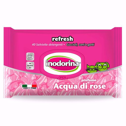 Imagem de INODORINA | Toalhetes Refresh Aqua di Rosa, 40 Toalhetes