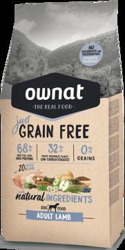 Imagem de OWNAT Cão | Just Grain Free Adult Lamb