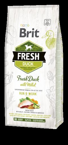 Imagem de BRIT Fresh | Duck With Millet Adult Run & Work 12 kg