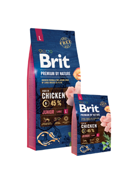 Imagem de BRIT Premium by Nature | Dog Junior L 15 kg