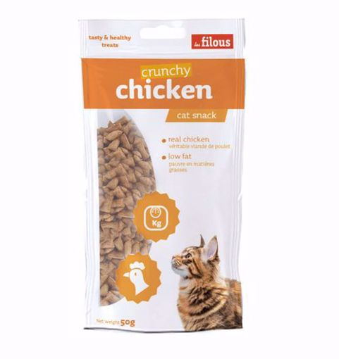 Imagem de LES FILOUS | Cat Snack Crunchy Chicken 50 g