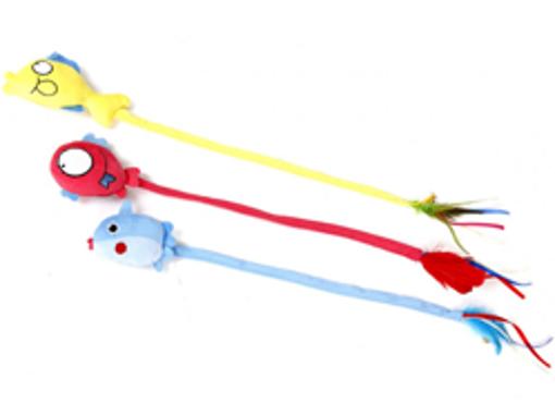 Imagem de EUROSIAM | Brinquedo Peixe Longo com Catnip - Sortido