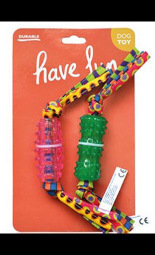 Imagem de EUROSIAM | Conjunto de 2 Brinquedos Osso com Franjas